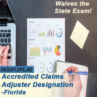 Florida: 40 hr 6-20 -All Lines Accredited Claims Adjuster Designation Online Course (INS013FL40)